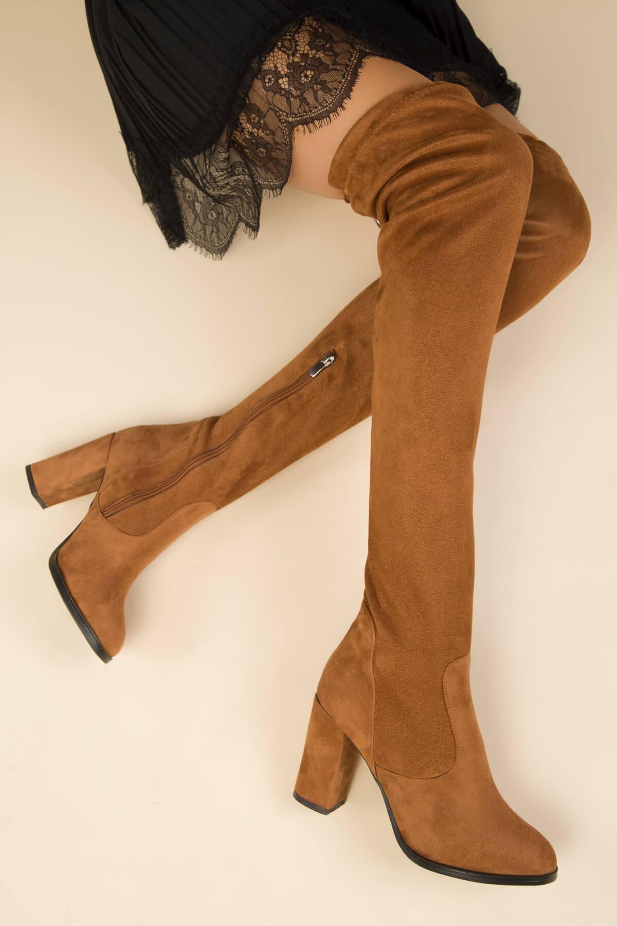 süet kadın çizme modelleri