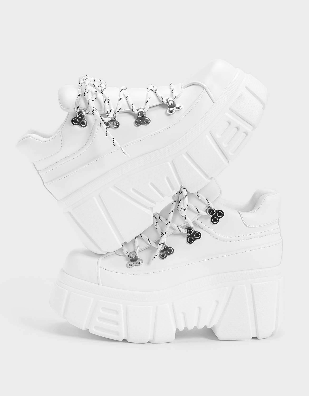 beyaz dolgu topuk sneaker