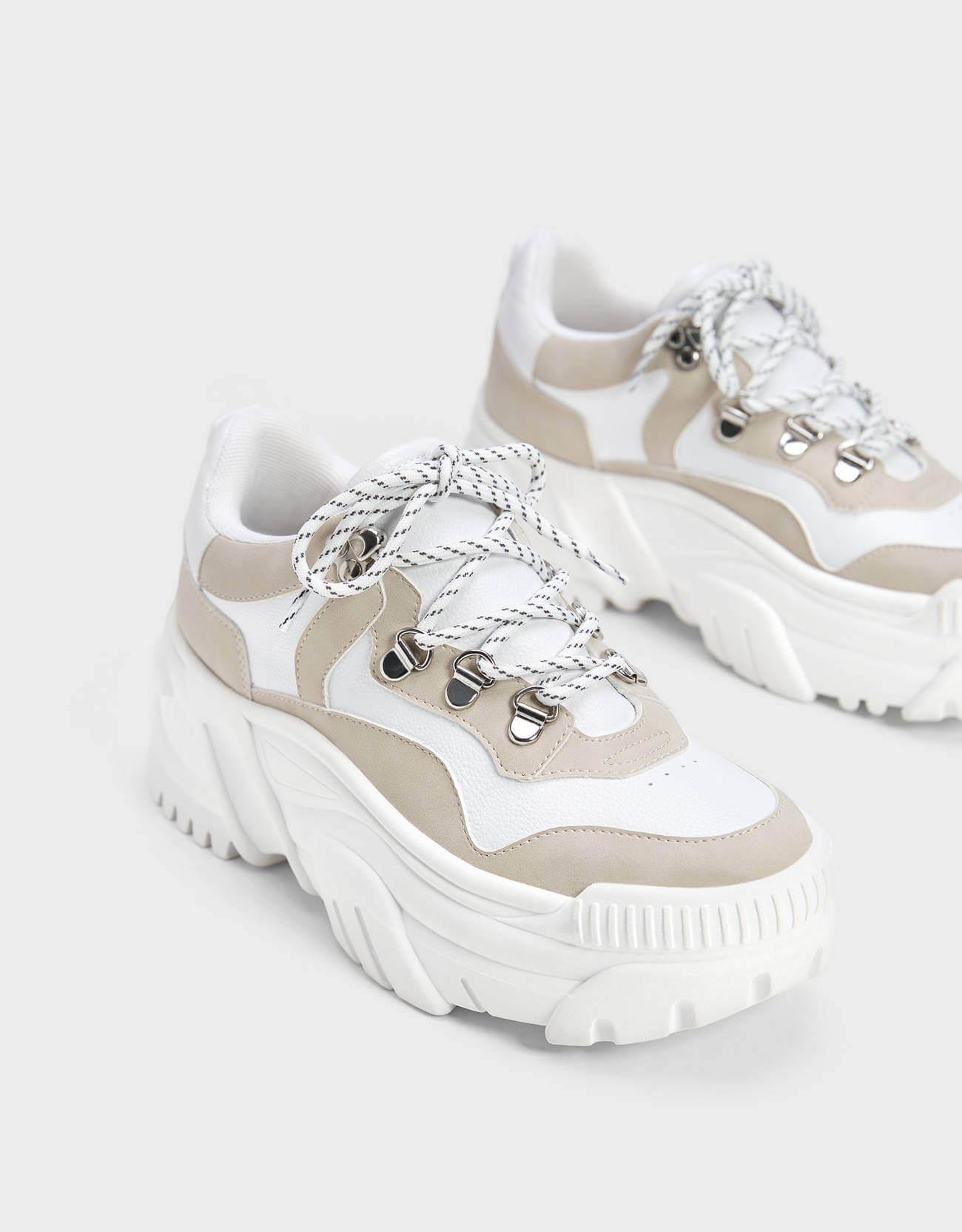 beyaz dolgu topuk spor ayakkabı