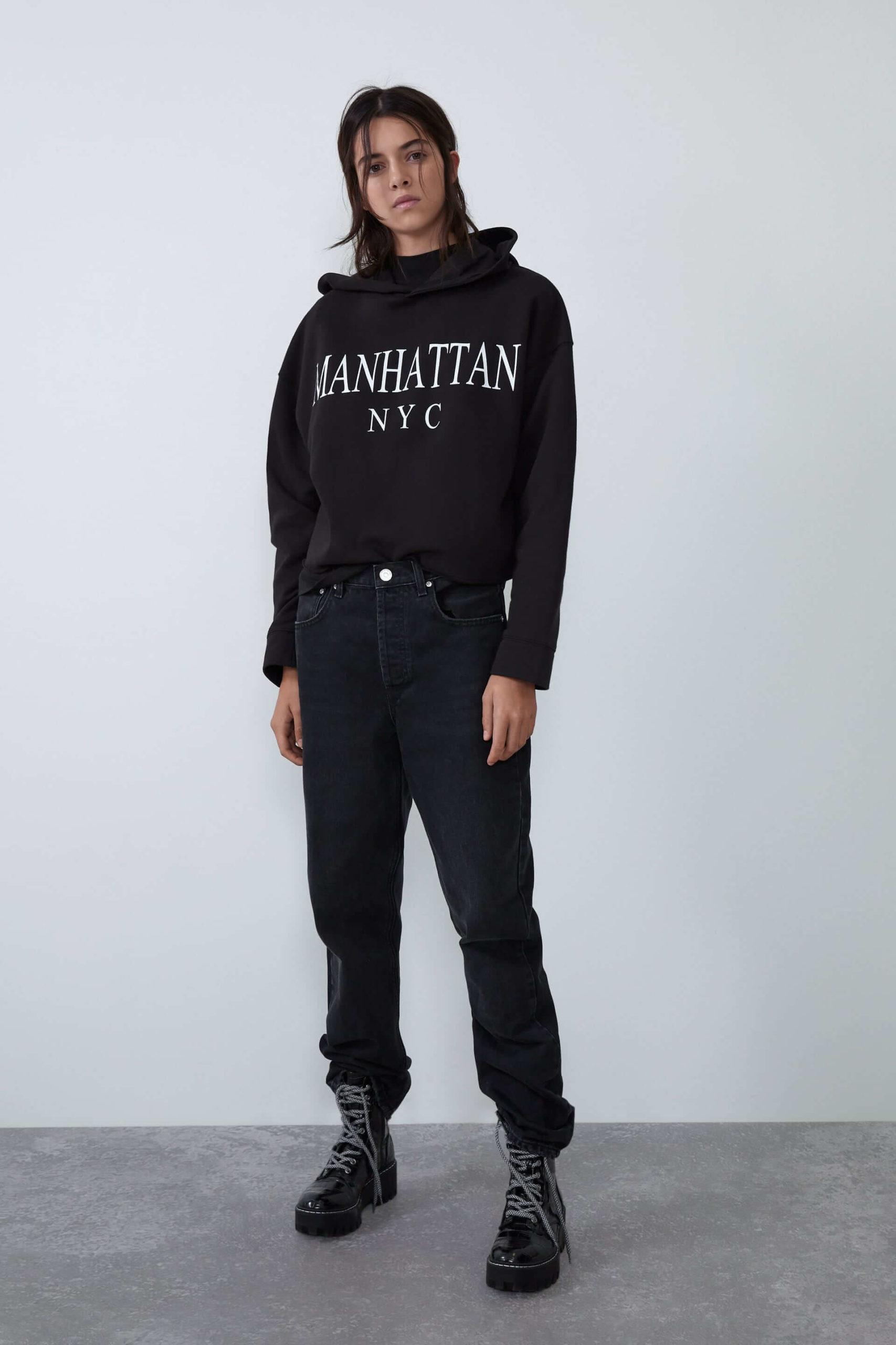 zara kadın sweatshirt