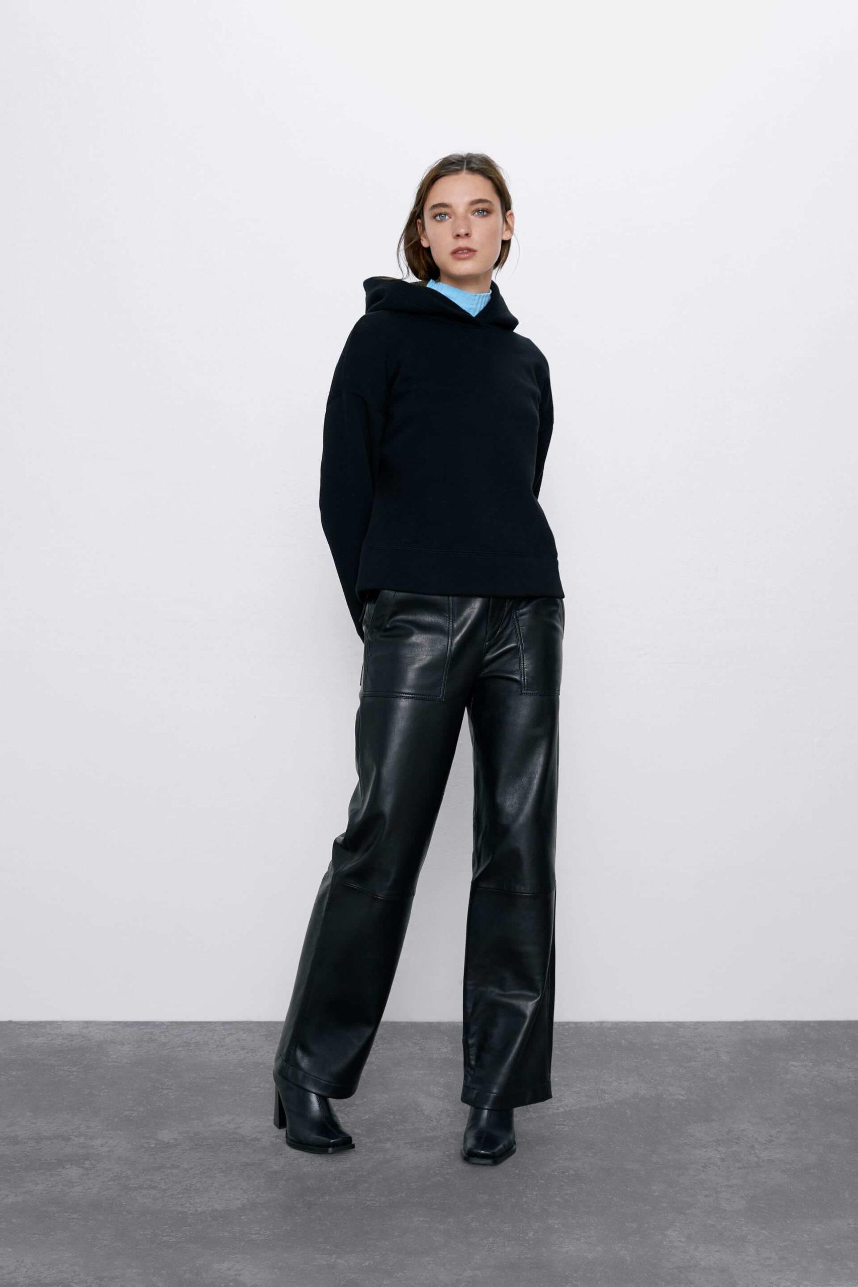 Zara kapüşonlu sweatshirt kadın