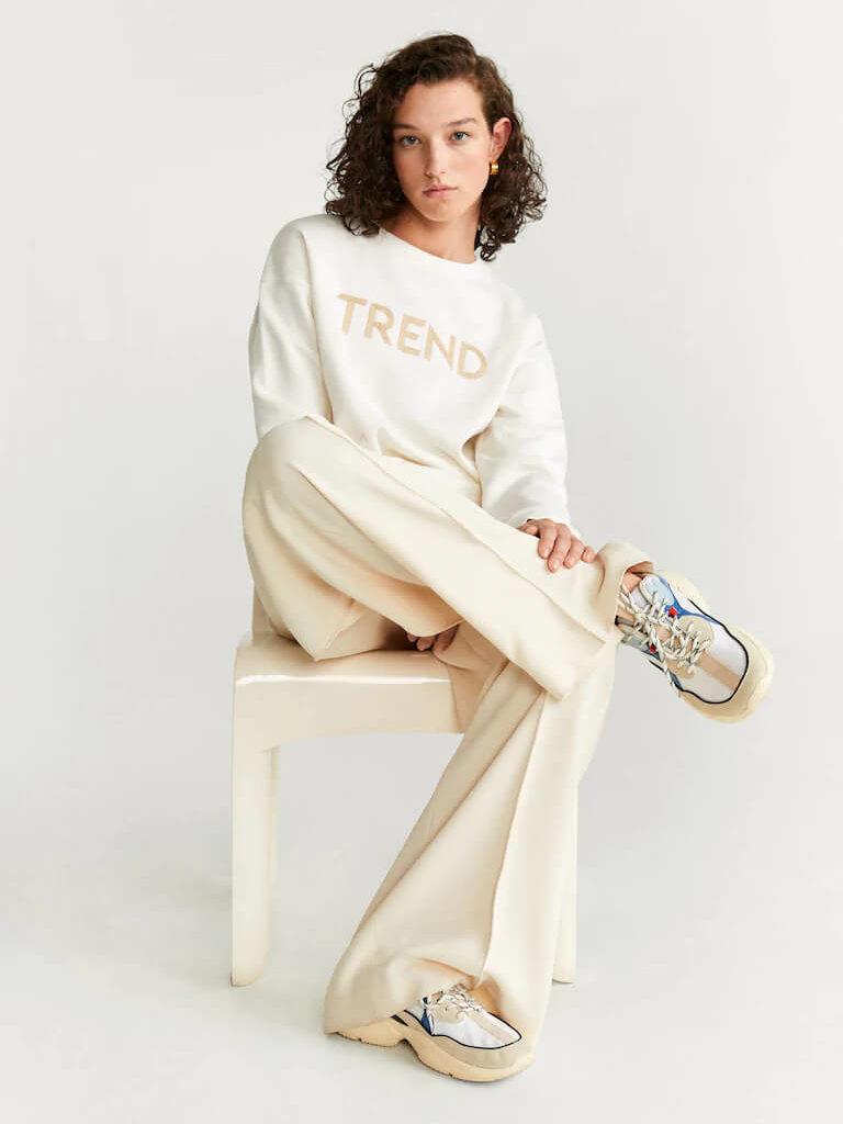 mango beyaz sweatshirt