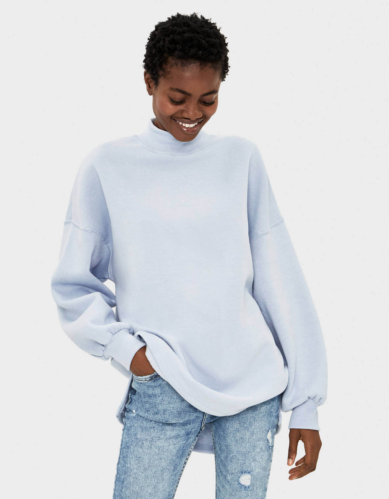 pull and bear sweatshirt kadın