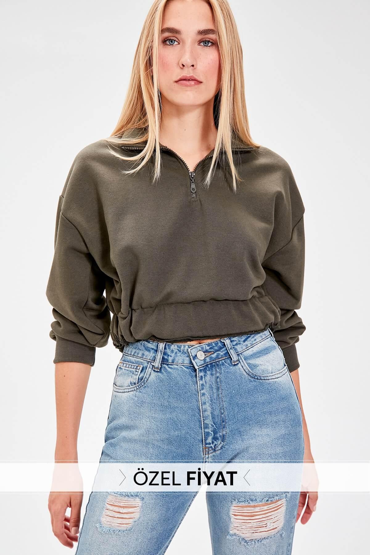 trendyol kadın sweatshirt
