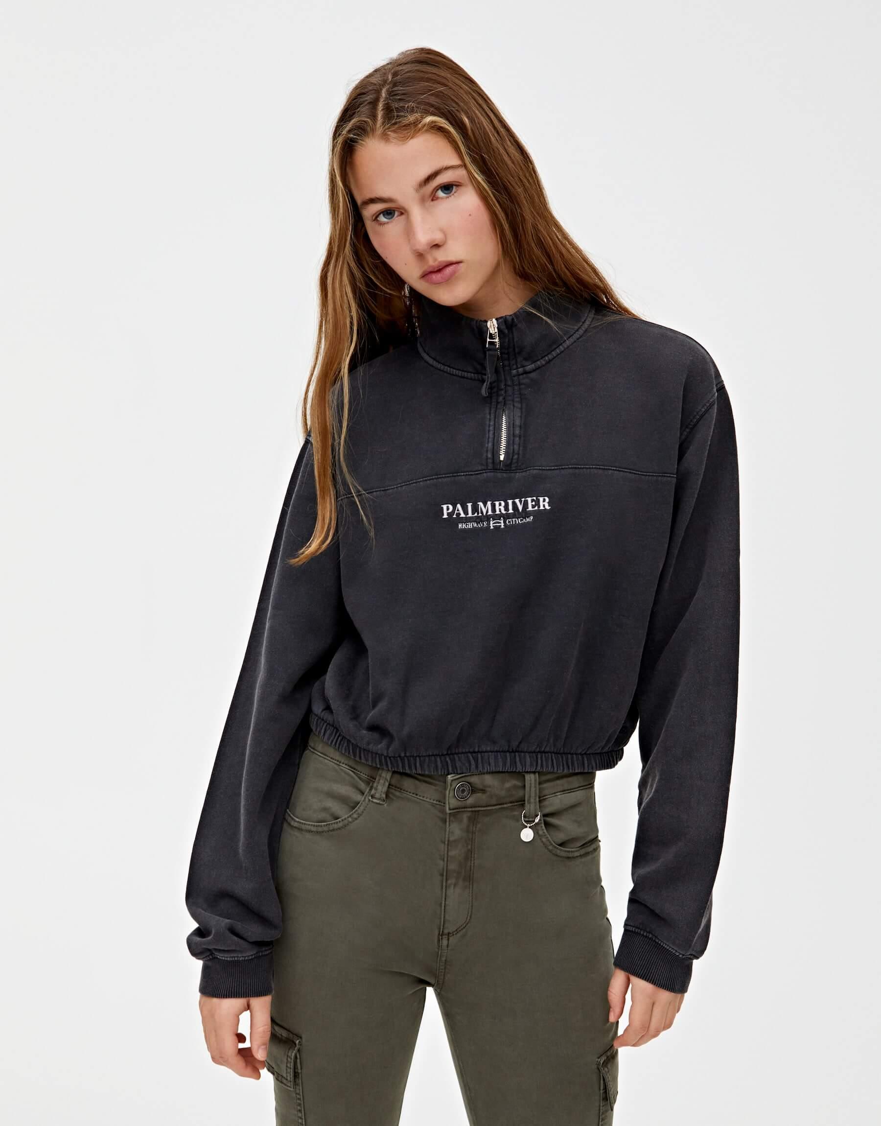 Pull and Bear Kadın Sweatshirt Modelleri