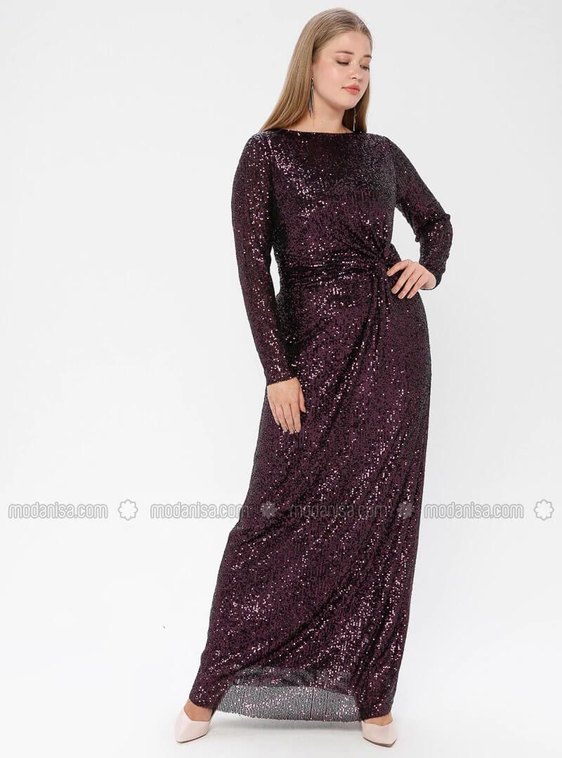 büyük beden abiye elbise modelleri 2020