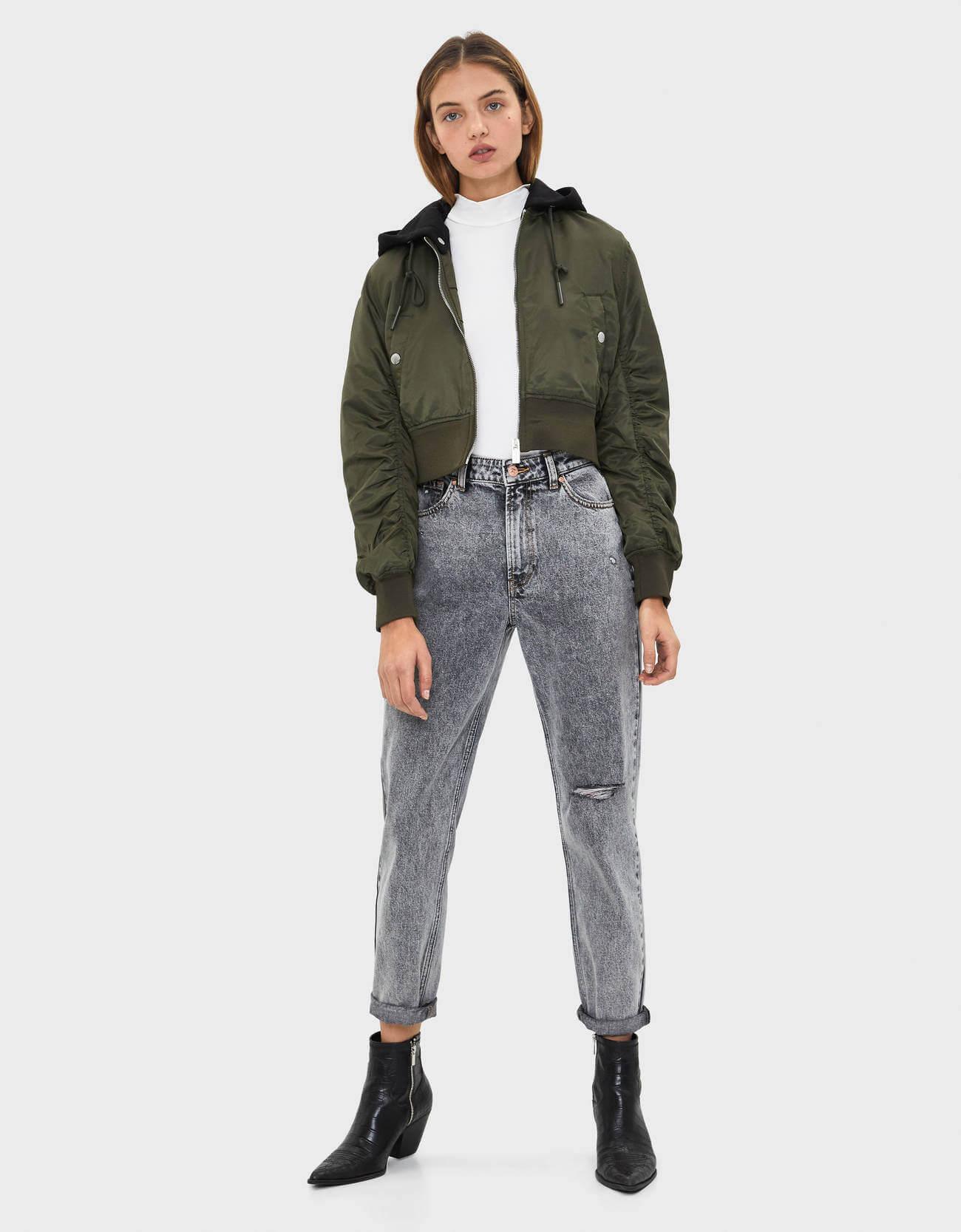 Kadın Bomber Ceket Bershka