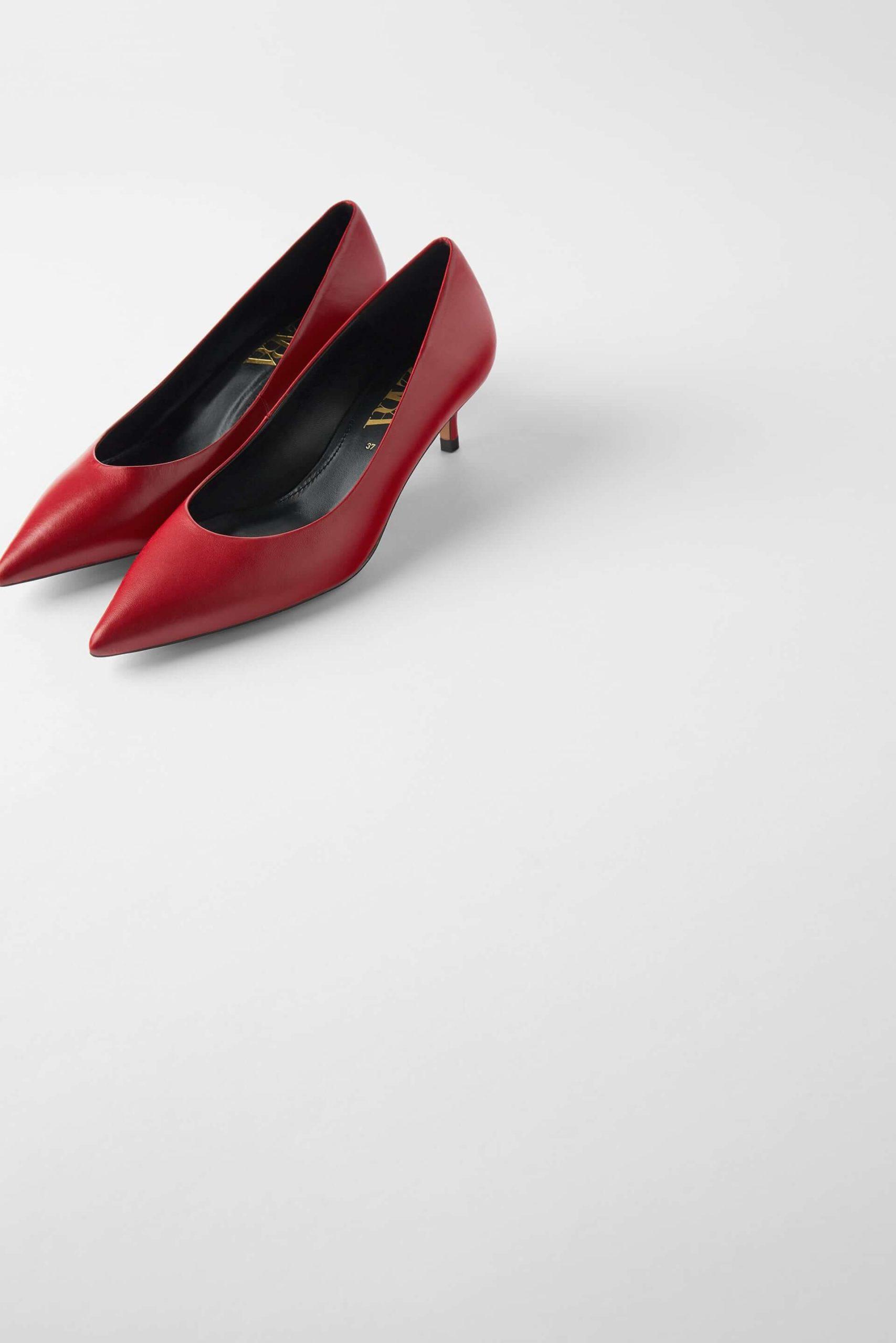 zara kısa topuklu ayakkabı modelleri
