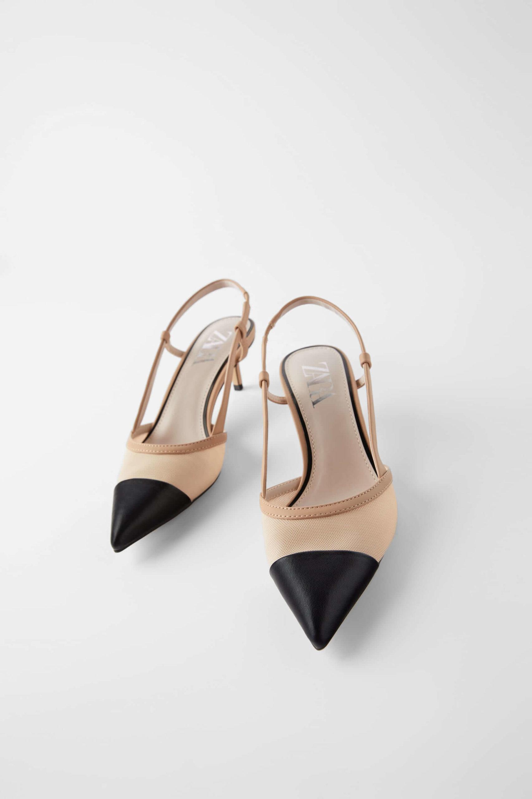 zara kısa topuklu ayakkabı