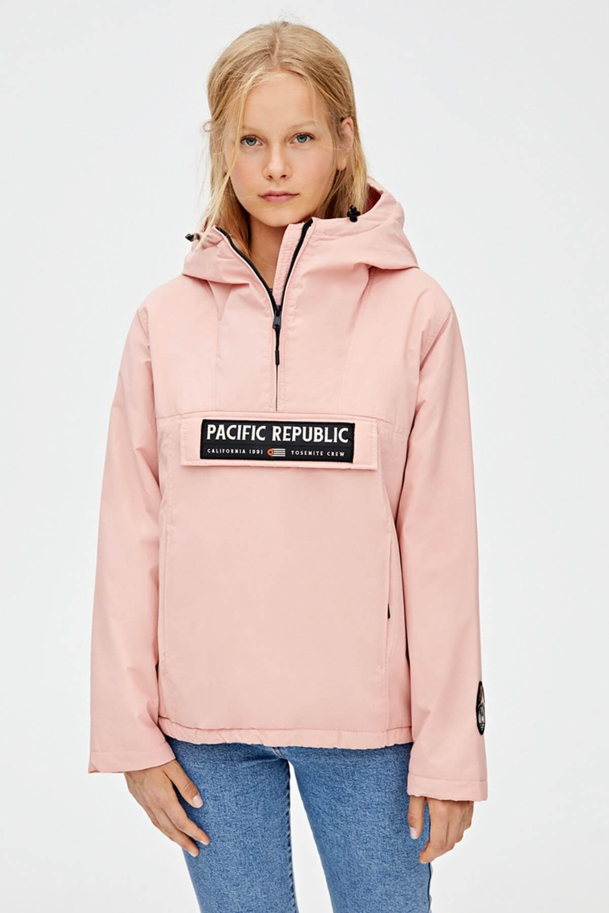 pull and bear kanguru mont kadın pembe pasific republic